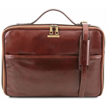 Кожаная сумка для ноутбука Tuscany Leather Vicenza TL141240 brown