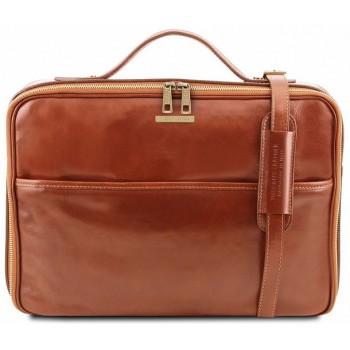 Кожаная сумка для ноутбука Tuscany Leather Vicenza TL141240 honey