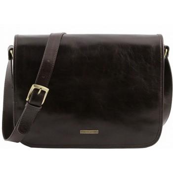 Сумка свободного стиля Tuscany Leather Messenger TL141253 dark brown