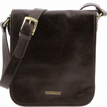 Мужская сумка Tuscany Leather Messenger TL141255 dark brown