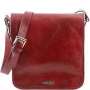 Мужская сумка Tuscany Leather Messenger TL141260 red