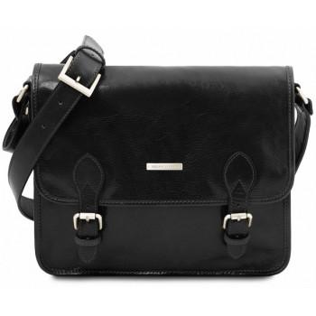 Кожаная сумка мессенджер Tuscany Leather Postina TL141288 black