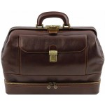 Саквояж  с двойным дном Tuscany Leather Giotto TL141297 dark brown