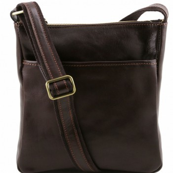 Мужская сумка через плечо Tuscany Leather Jason TL141300 dark brown