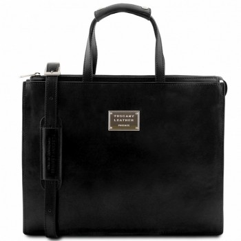 Кожаный портфель Tuscany Leather Palermo TL141343 black