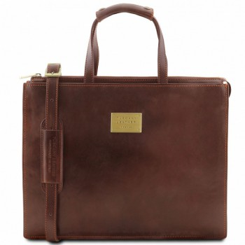 Кожаный портфель Tuscany Leather Palermo TL141343 brown