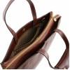 Кожаный портфель Tuscany Leather Palermo TL141343 dark brown