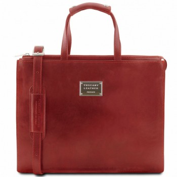 Кожаный портфель Tuscany Leather Palermo TL141343 red