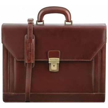Кожаный портфель Tuscany Leather Napoli TL141348 brown