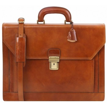 Кожаный портфель Tuscany Leather Napoli TL141348 honey