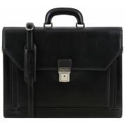 Кожаный портфель Tuscany Leather Roma TL141349 black