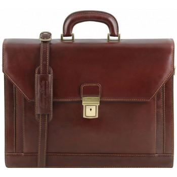 Кожаный портфель Tuscany Leather Roma TL141349 brown