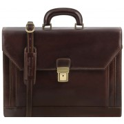 Кожаный портфель Tuscany Leather Roma TL141349 dark brown