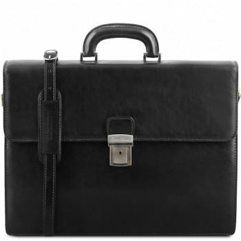 Кожаный портфель Tuscany Leather Parma TL141350 black