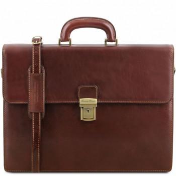 Кожаный портфель Tuscany Leather Parma TL141350 brown