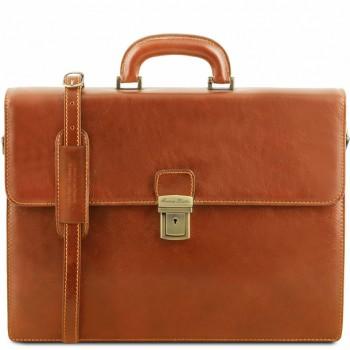 Кожаный портфель Tuscany Leather Parma TL141350 honey
