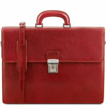 Кожаный портфель Tuscany Leather Parma TL141350 red
