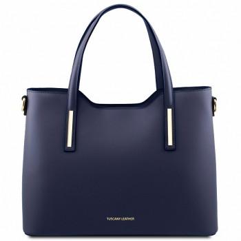 Женская кожаная сумка Tuscany Leather Olimpia TL141412 blue