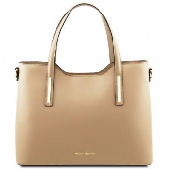 Женская кожаная сумка Tuscany Leather Olimpia TL141412 champagne