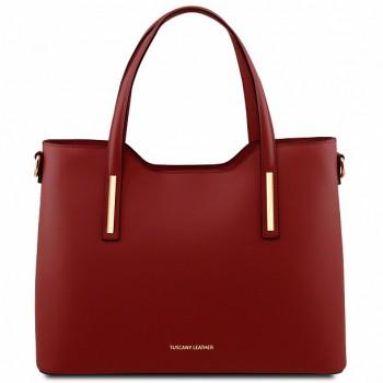 Женская кожаная сумка Tuscany Leather Olimpia TL141412 red