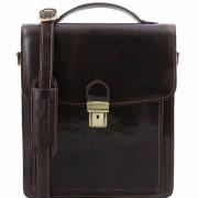 Мужская сумка Tuscany Leather David TL141424 (TL140930) dark brown
