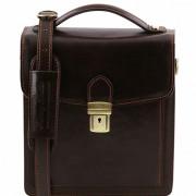 Мужская сумка Tuscany Leather David TL141425 (TL140931) dark brown