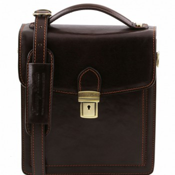 Мужская сумка Tuscany Leather David TL141425 (TL140931) dark brown