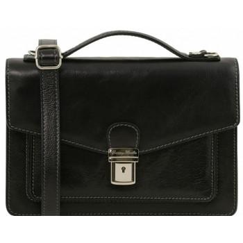 Мужская сумка через плечо Tuscany Leather Eric TL141443 black