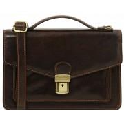 Мужская сумка через плечо Tuscany Leather Eric TL141443 dark brown