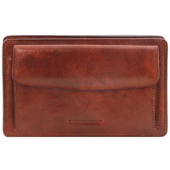 Мужской кожаный клатч Tuscany Leather Denis TL141445 brown