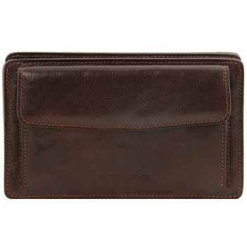 Мужской кожаный клатч Tuscany Leather Denis TL141445 dark brown
