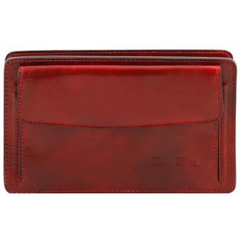 Мужской кожаный клатч Tuscany Leather Denis TL141445 red