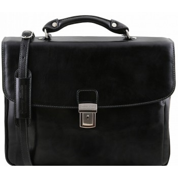 Кожаный портфель Tuscany Leather Alessandria TL141448 black