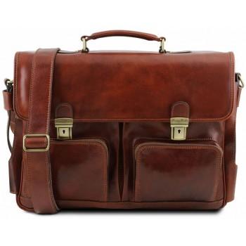 Кожаный портфель Tuscany Leather Ventimiglia TL141449 brown