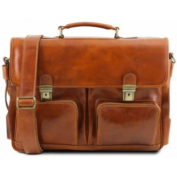 Кожаный портфель Tuscany Leather Ventimiglia TL141449 honey