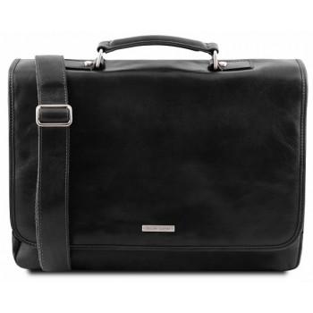 Кожаный портфель Tuscany Leather Mantova TL141450 black