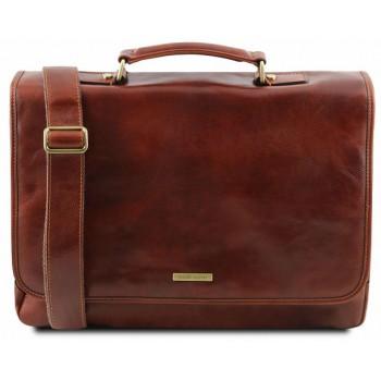 Кожаный портфель Tuscany Leather Mantova TL141450 brown