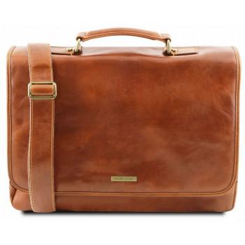 Кожаный портфель Tuscany Leather Mantova TL141450 honey