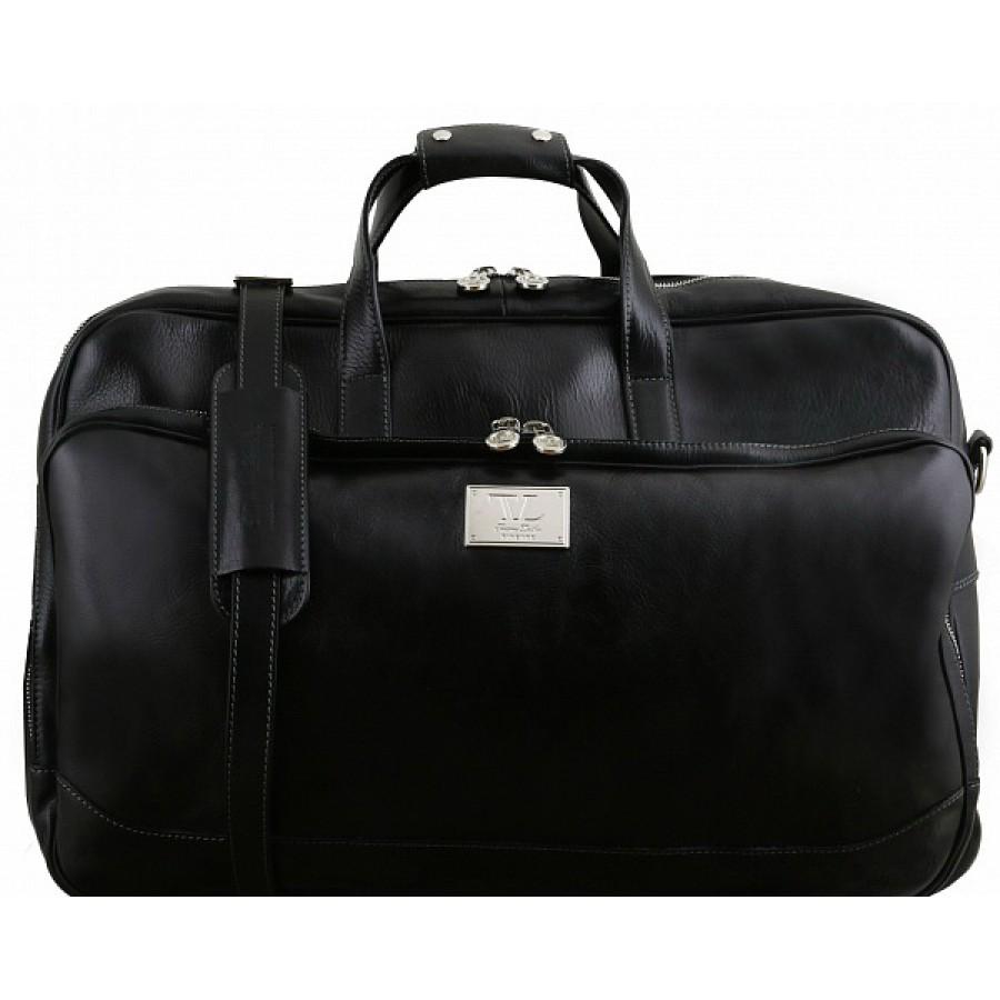 1421060cb6ea CarryBag - Кожаная дорожная сумка на колесах Tuscany Leather Samoa ...