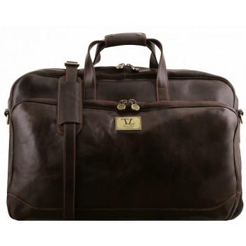 Дорожная сумка на колесах Tuscany Leather Samoa TL141453 dark brown