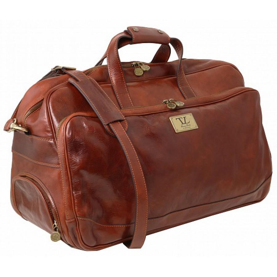 597b6dbcd603 Дорожная сумка на колесах Tuscany Leather Samoa TL141453 dark brown ...