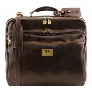 Чемодан на колесах Tuscany Leather Varsavia TL141454 dark brown