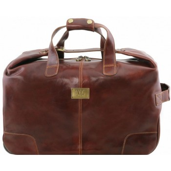 Дорожная сумка на колесах Tuscany Leather Barbados TL141537 brown