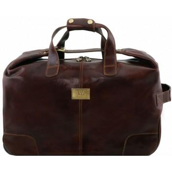 Дорожная сумка на колесах Tuscany Leather Barbados TL141537 dark brown