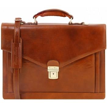Кожаный портфель Tuscany Leather Volterra TL141544 honey