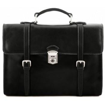 Кожаный портфель-рюкзак Tuscany Leather Viareggio TL141558 black