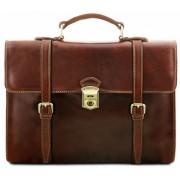 Кожаный портфель-рюкзак Tuscany Leather Viareggio TL141558 brown