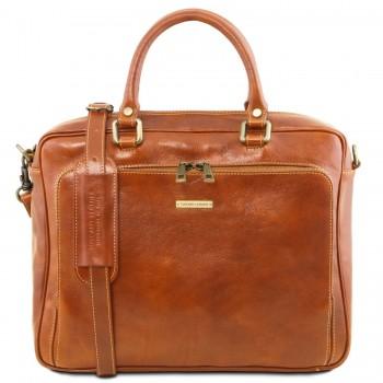 Кожаная сумка Tuscany Leather Pisa TL141660 honey