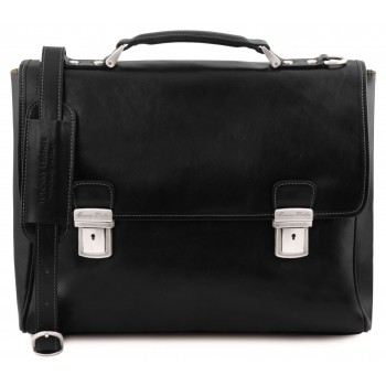 Кожаный портфель Tuscany Leather Trieste TL141662 black