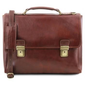 Кожаный портфель Tuscany Leather Trieste TL141662 brown
